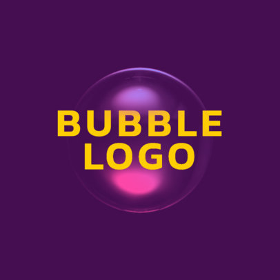 Abstract Logo Maker Featuring a Bubble Clipart 4030c