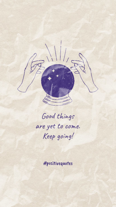 Instagram Story Generator Featuring a Positive Quote and a Crystal Ball Graphic 3339b
