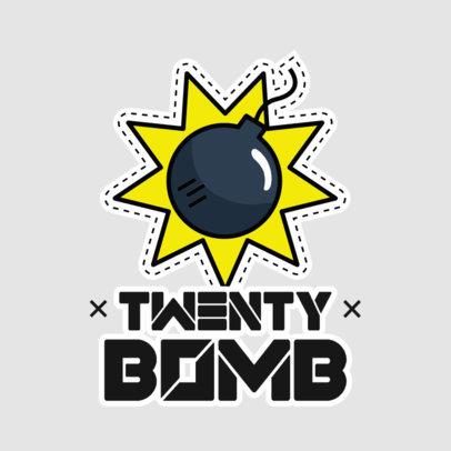 Sticker Design Maker Featuring a Bomb Illustration 3448c-el1
