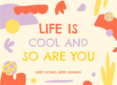 Greeting Card Design Generator Featuring a Wholesome Quote 3351e