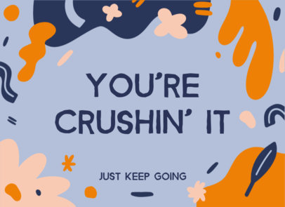 Greeting Card Creator Featuring a Quote of Encouragement 3351h