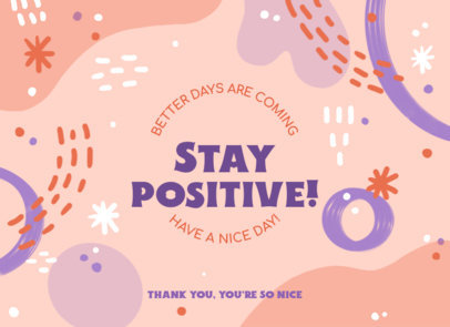 Positive Greeting Card Design Creator with an Abstract Background 3349b
