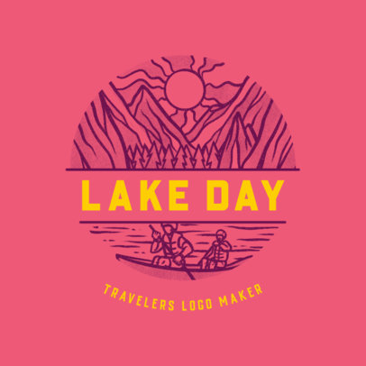 Logo Maker for an Outdoors Travel Agency Featuring a Lake Icon 4020k