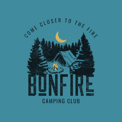 Logo Template for Camping Clubs Featuring a Forest Illustration 4028g