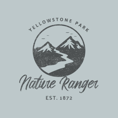 State Park Logo Generator Featuring a Mountain Landscape Illustration 4028n