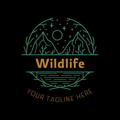 Logo Template for a Wildlife Conservation Society 4020r