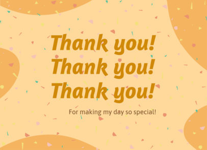 Greeting Card Design Template with a Message of Gratitude 3347f