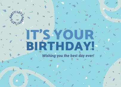 Happy Birthday Greeting Card Design Generator  3347g