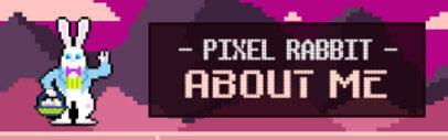 Twitch Panel Template Featuring a Pixel Art Rabbit 3368d