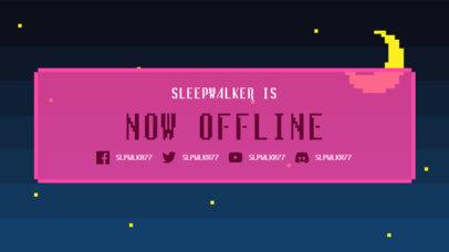 Twitch Offline Banner Generator Featuring a Pixel Art Night Sky 3368h