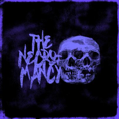 Horror Gaming Logo Maker Featuring Skull Graphics 4035
