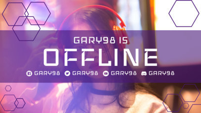 Twitch Offline Banner Template Featuring Geometric Shapes 3367c