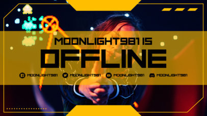 Twitch Offline Banner Maker for a Gaming Streamer 3367a