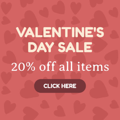 Valentine's Day Banner Maker for Special Sales 875-16614c