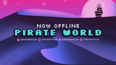 Twitch Offline Banner Creator with a Dreamy Landscape of a Pirate Sea 3370e