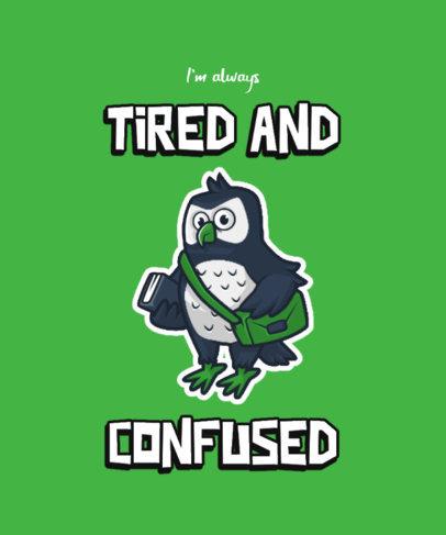 Funny T-Shirt Design Maker Featuring a Millennial Owl 3468e-el1