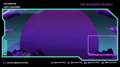 Twitch Overlay Generator with a Weird Background with Dolphins 3370c