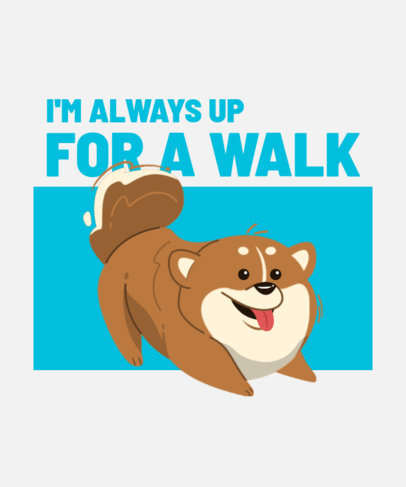 T-Shirt Design Creator Featuring a Playful Pomeranian 3470b-el1