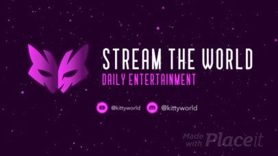 Twitch Starting Soon Screen Video Maker Featuring Glowing Particles 2633