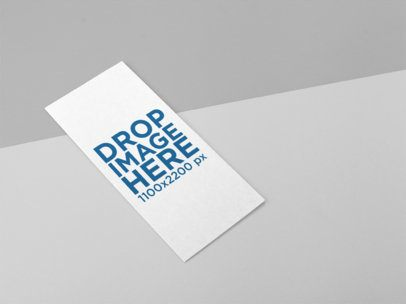 Trifold Brochure Template Lying on a Bicolor Surface a15194