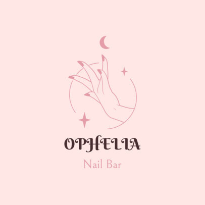 Online Logo Maker for a Nail Bar Featuring Star Graphics 4046d