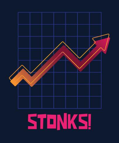 T-Shirt Design Maker for WSB Investors Featuring a Surging Graph 2076i-3375