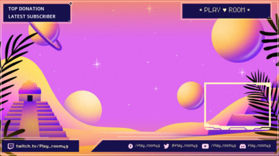 Twitch Overlay Maker Featuring a Landscape from Another Dimension 3370d