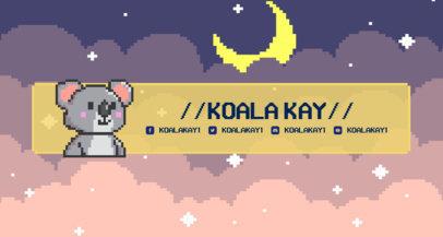 Twitch Banner Maker Featuring an 8-Bit Koala and a Night Sky Background 1452g-3368