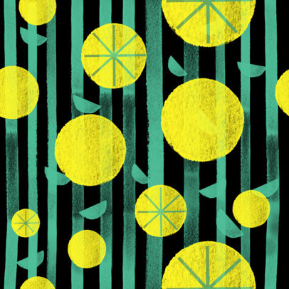 Seamless Print Pattern Maker with Illustrations of Fruits 3363f