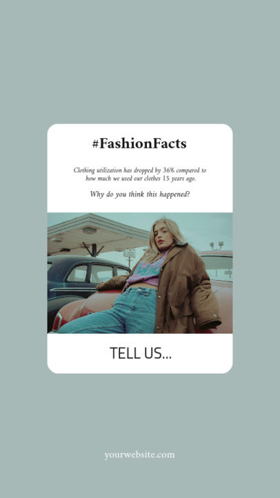 Instagram Story Generator Featuring a Reminder With a Fashion Fact 3476a-el1