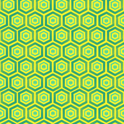 Seamless Print Pattern Design Maker with Hexagons 3363m