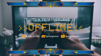 Twitch Offline Banner Creator Featuring a Cool Frame 3372b