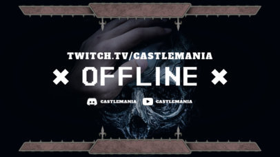 Offline Banner Maker for Twitch Streamers with a Cool Frame 3372d