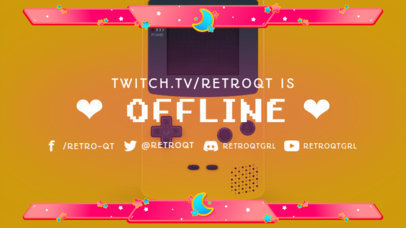 Offline Banner Template for Twitch Streamers Featuring 8-Bit Fonts 3372c