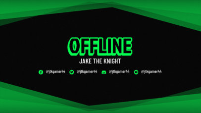 Twitch Offline Banner Maker for Gamers Featuring a Neon Typeface and a Frame 3365d