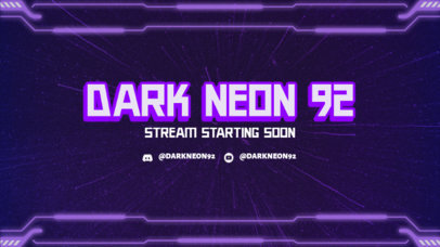Twitch Overlay Template for Gamers Featuring a Sci-Fi Frame 3365h