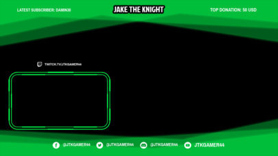 OBS Stream Overlay Template for Esport Streamers Featuring a Neon Frame 3365d