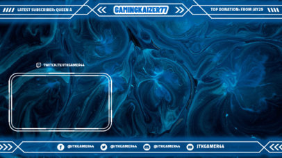 Twitch Overlay Design Template Featuring a Frame With a High-Tech Style 3365e