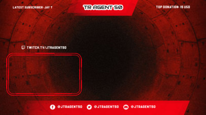 Twitch Overlay Design Generator for Gamers Featuring a Webcam Frame and Translucent Banners 3365f