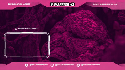 Twitch Overlay Design Maker for Gamers With a Simple Style and a Webcam Frame 3365g