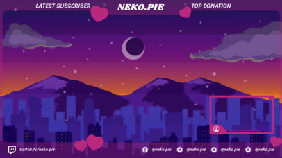 8-bit-Style Twitch Overlay Design Maker Featuring an Illustrated Night Sky 3369f