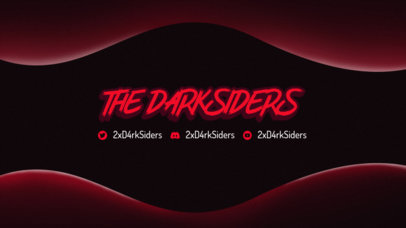 Twitch Banner Template for Gaming Channels Featuring a Dark Color Scheme 3365b