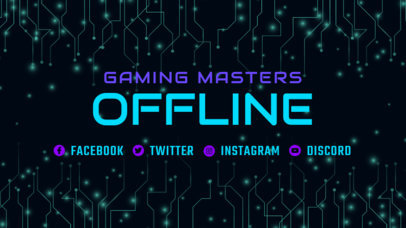 Gaming Twitch Offline Banner Generator with Tech-Circuit Graphics 3364c
