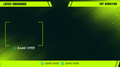 Twitch Overlay Template Featuring Neon Panels 3364a