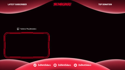 OBS Stream Overlay Generator for Gamers Featuring a Dark Color Palette 3365b