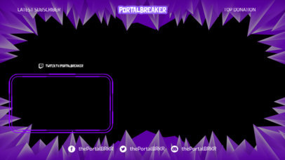 OBS Stream Overlay Maker for Gaming Streamers Featuring a Frame With Pointed Shapes 3365c