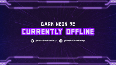 Twitch Offline Banner Maker for Gamers Featuring a Sci-Fi Frame 2449k-3365