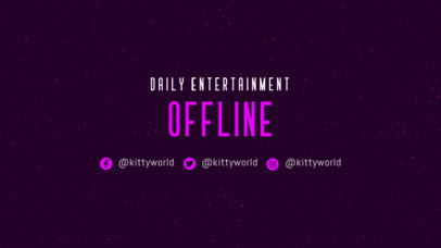 Twitch Offline Banner Generator with a Simple Background 3364b