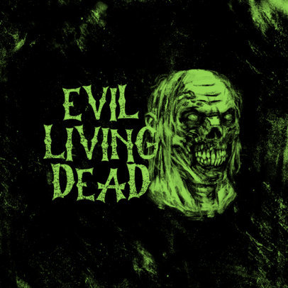 Survival Horror Gaming Logo Maker Featuring a Spooky Creature Graphic 4035d