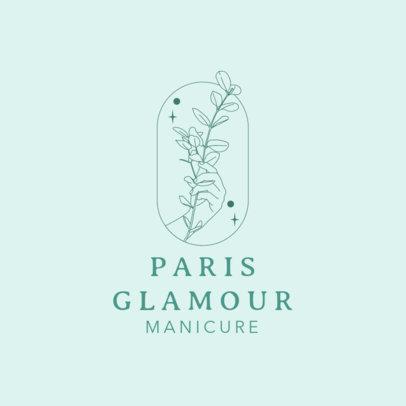 Logo Maker for a Manicure Salon Featuring a Botanical Illustration 4042d